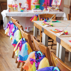 art rainbow party tutus