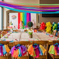 art rainbow party tutus