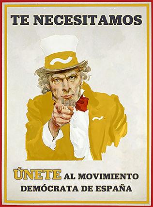 Te necesitamos. Tú eres imprescindible. ünete al Movimiento Demócrata de España.