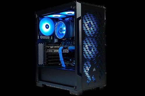 Mid Range Black/Blue Gaming PC (Ryzen 5 2600+RTX 2060)