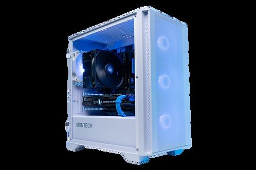Mid Range White/Blue Gaming PC (Ryzen 3 3300x +GTX 1070)
