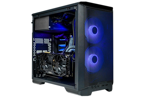 High End Black/Blue ITX Gaming PC (i5 11400 + RTX 2070 Super)