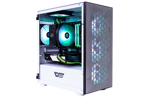 Mid Range White/Green Gaming PC (Ryzen 5 3500X + GTX 1660 Super)
