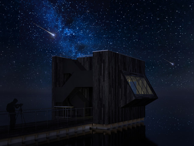 STARGAZING FLOATING CUBE, NETHERLANDS