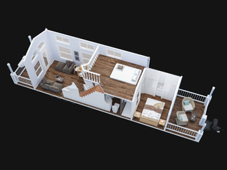 Park Model Trailer 3d Loft Plan