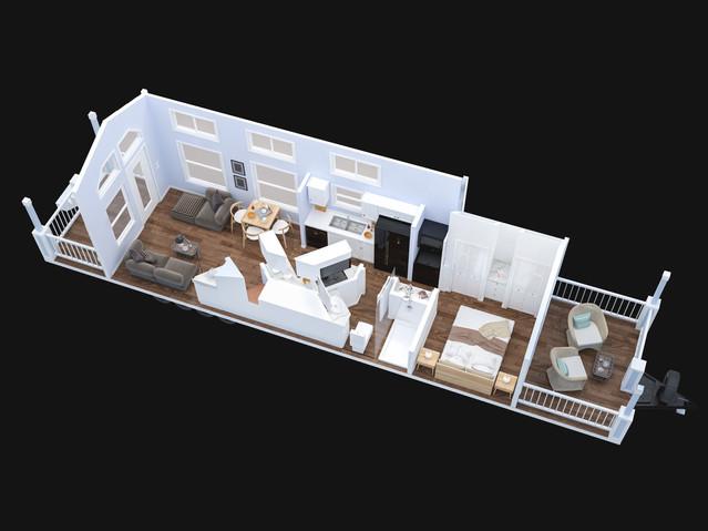 Park Model Trailer 3d Floor Plan