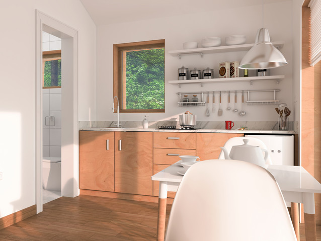 Small Eco House Interior