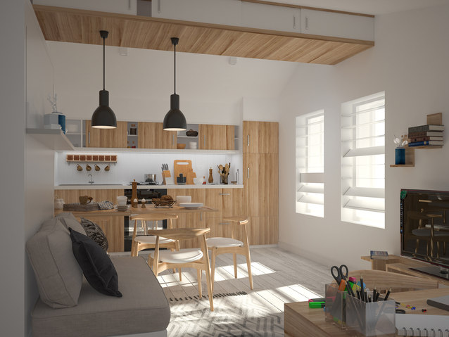 TINY ECO HOUSE INTERIOR, SWEDEN