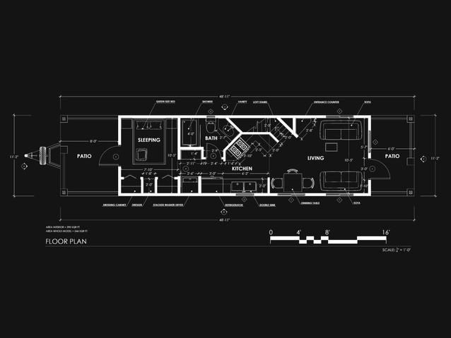 Park Model Trailer Floor Plan