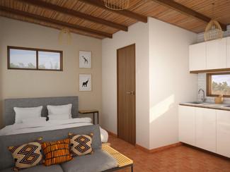 Residential mini cabin interior