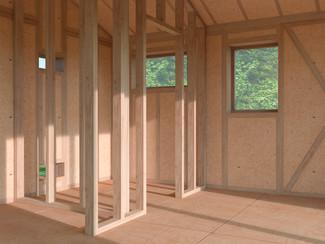 Small Eco House Interior Structure