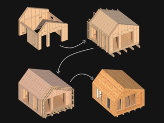 Small Eco House Construction Phases