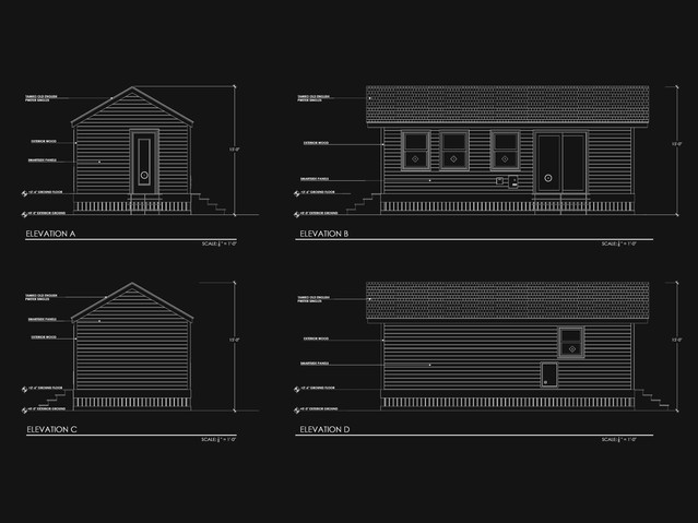 Mobile house Elevations