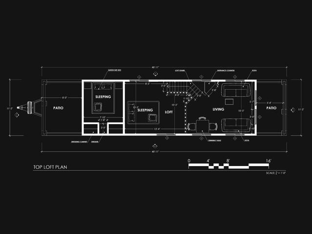 Park Model Trailer Loft Plan