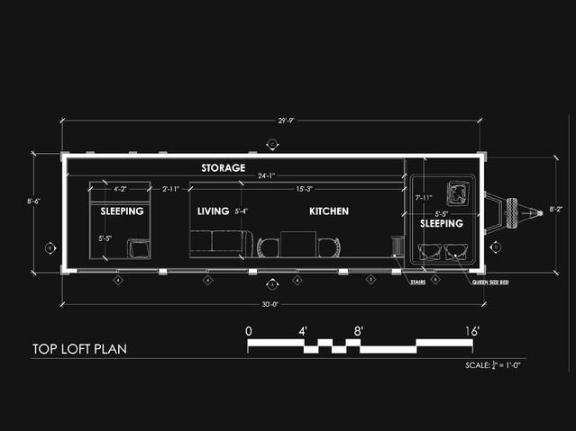 Mobile House Loft Plan
