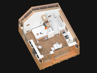 Small Eco House 3d Plan