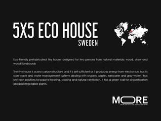 Eco-friendly prefabricated tiny house