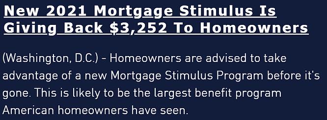 US Mortgage Repief Program