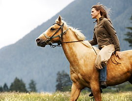 Woman on Galloping Horse