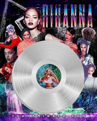 Rihanna Vinyl Poster