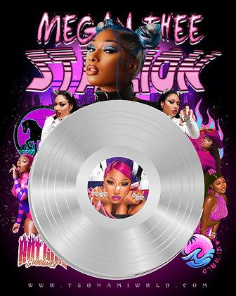 Megan Thee Stallion Vinyl Poster