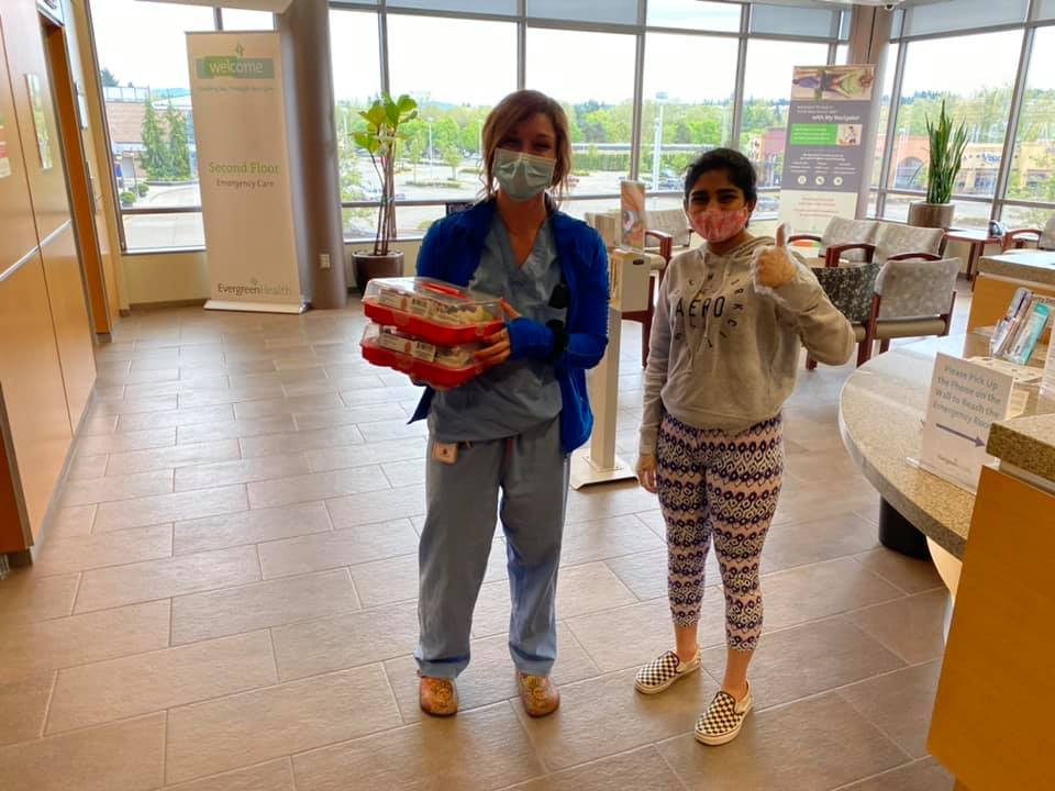 CupCake Donations in Evergreen Hospital on May 1st