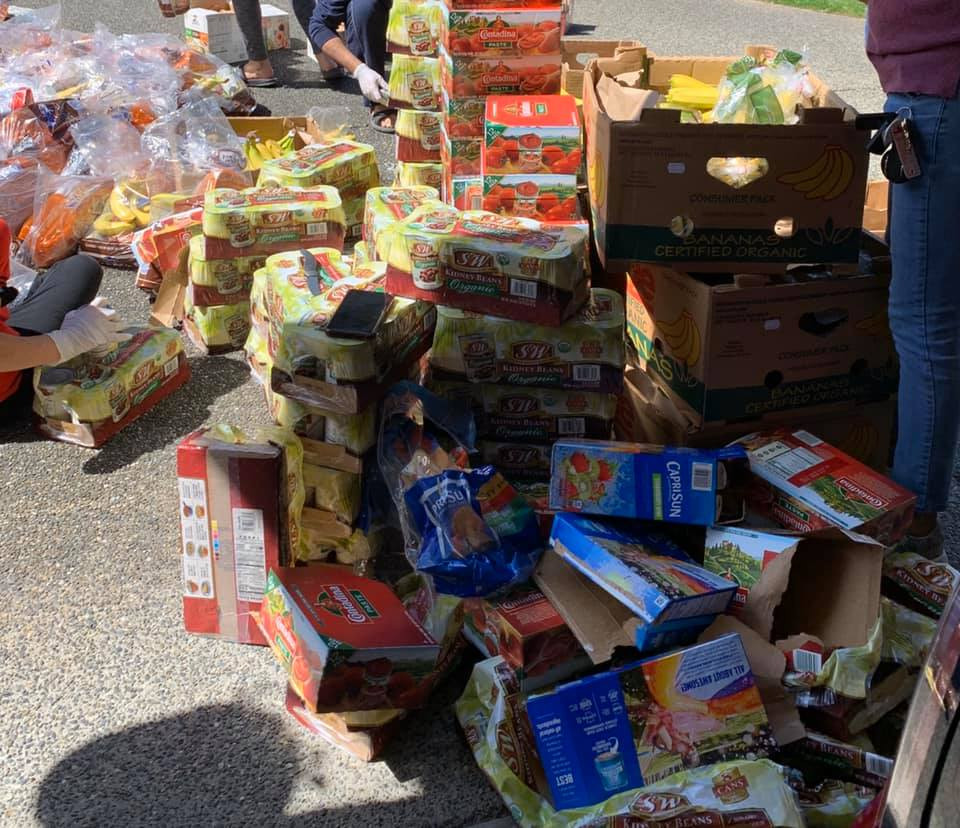 1000 Bananas, 600 boxes of juices, 600 packetsof Mac & Cheese, 600 packets of Noodels...helping low income families and shelter homes in Seattle area on April 15th