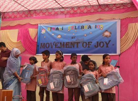 School Bags for under privileged Kids: Diwali Gifts