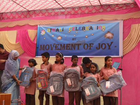 School Bags for under privileged Kids: Diwali Gifts