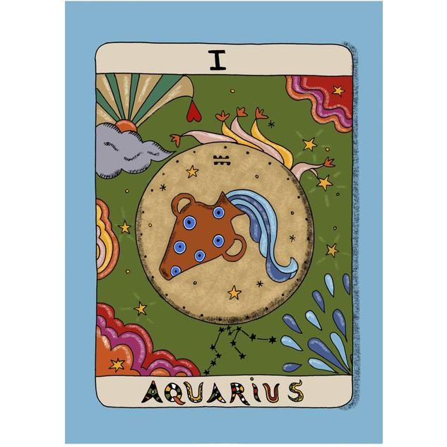 AQUARIUS horoscope print