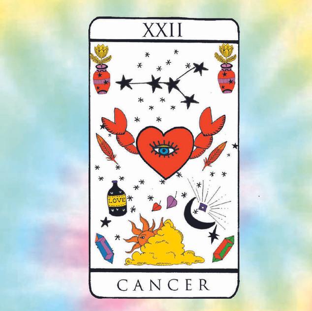 Cancer sign card