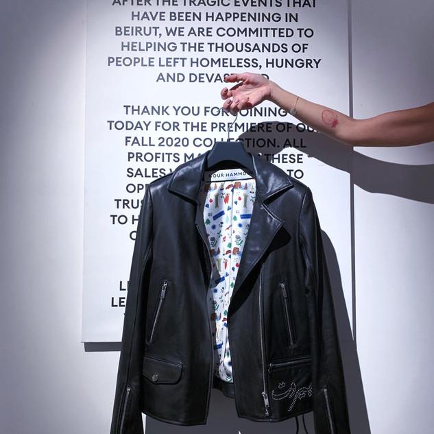 Nour Hammour leather jacket