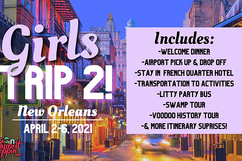 NOLA Girls Trip- Double Occupancy (2 girls) Payment Plan