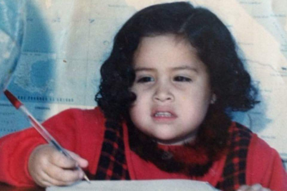 Baby Tania always drawing!