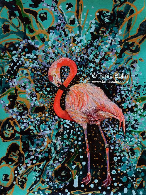 Limited Edition Print 'Flamingo Flamboyant'