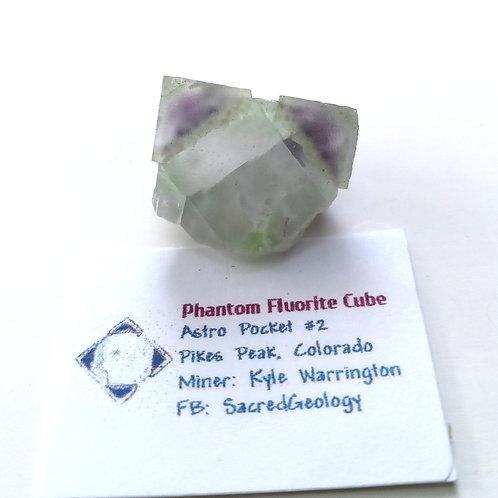 Octahedral Shaped Phantom Fluorite Cube