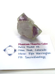 Colorful Phantom Fluorite Cube