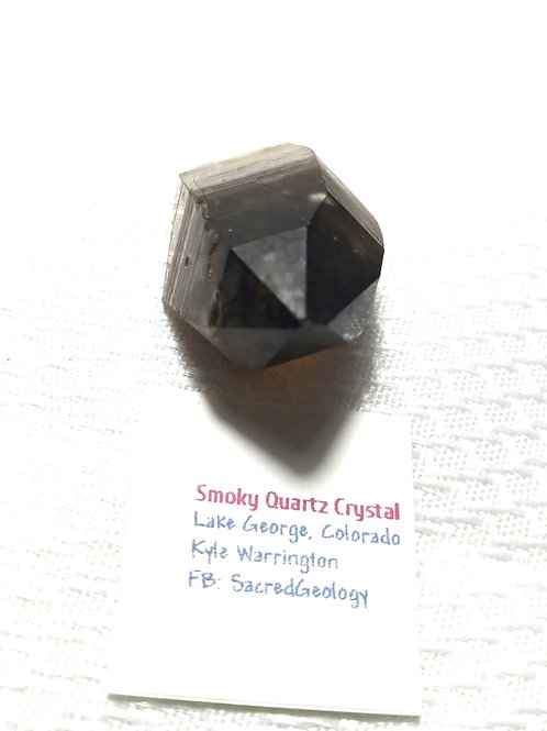 Smoky Quartz Crystal from Colorado