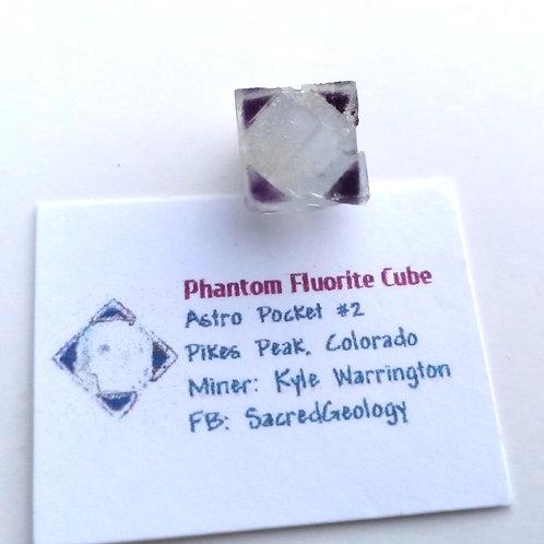 Sharp 4 Corner Phantom Fluorite Cube