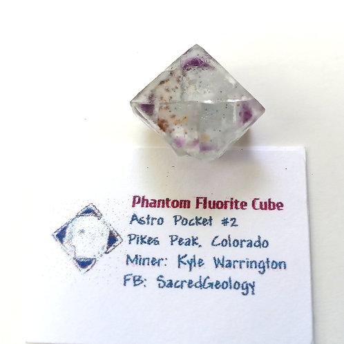 Included Phantom Fluorite Cube