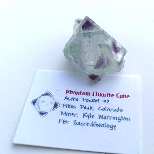Twin Phantom Fluorite Cube