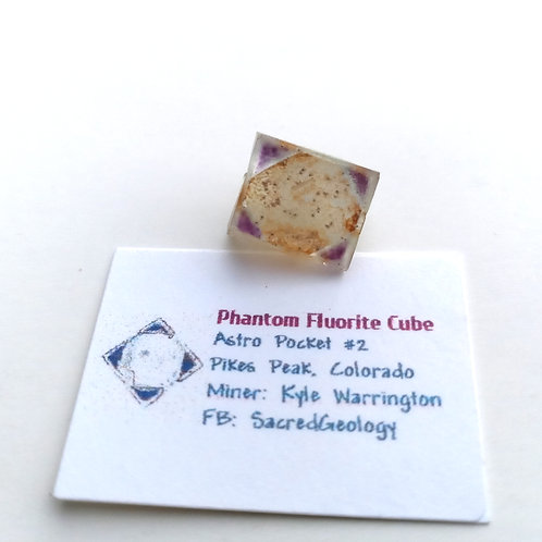 Iron, Pyrite + Hematite Included Phantom Fluorite Cube