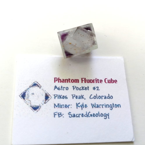 Sharp Purple Corner Fluorite Cube
