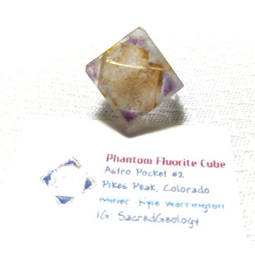 Iron Included Phantom Fluorite Cubd