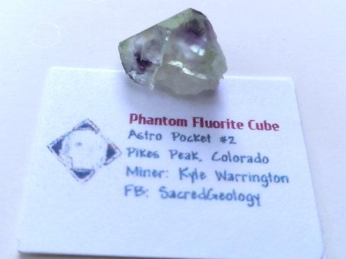 Deep Phantom Fluorite Cube