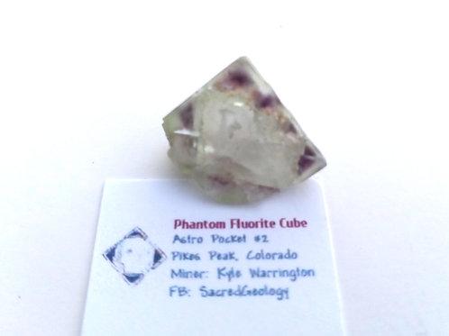 Unique Phantom Fluorite Cube from Colorado