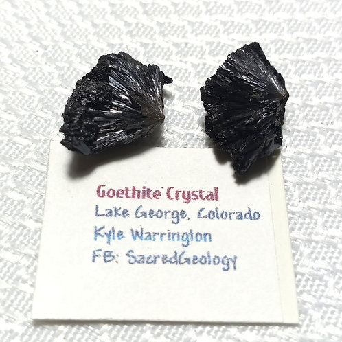 2 Goethite Crystals from Colorado