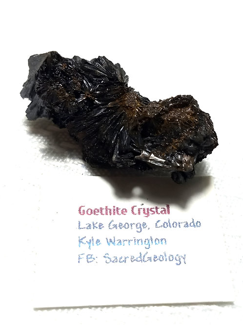 Goethite Crystal from Colorado