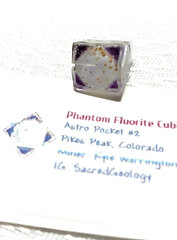 Pyrite Included Purple Phantom Fluorite Cube