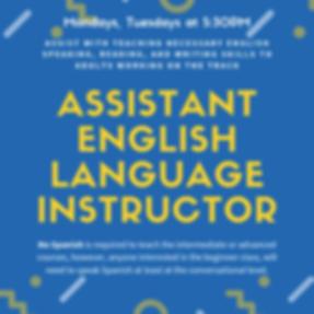 Assistant English Language Instructor(1)